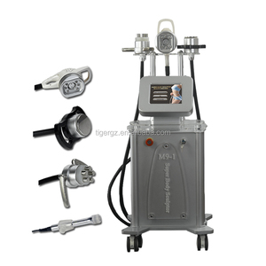 Professional M9 280Kpa vacuum slimming machine RF ultrasonic cavitation with 5 strong energy heads