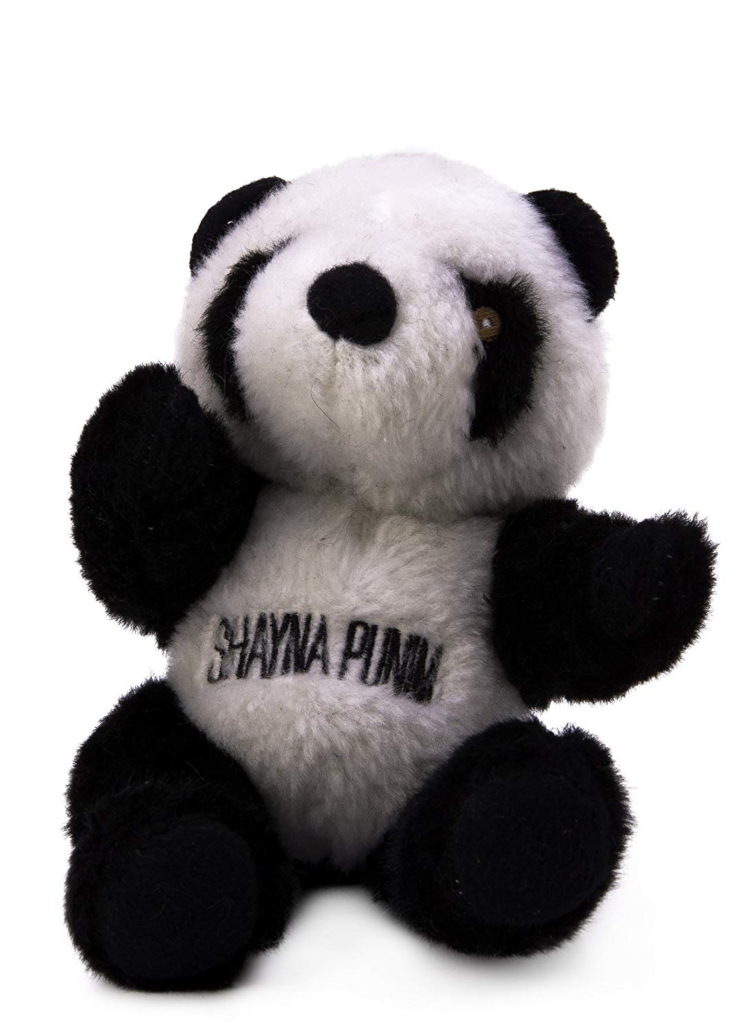 Copa Judaica Chewish Treat Shayna Punin Panda Plush Dog Toy with Squeaker, 6 by 7-Inch, Black and White