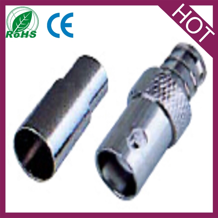 bnc female connector rg6 crimp type