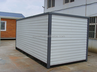 light steel frame prefabricated folding container warehouse shed for major supermarket chains , 24 hour convenience store