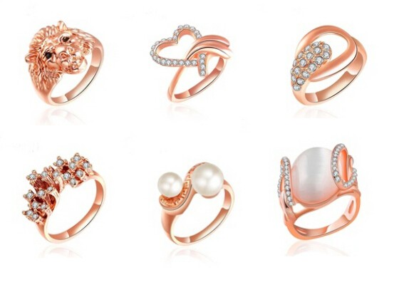 Fashion Heart Shaped Ring Designs For Girls Wholesale Lzri 0030