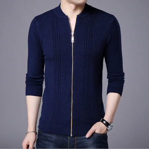 men's knit cardigan men's sweater coat