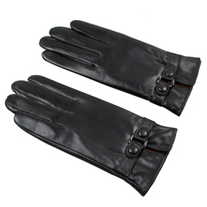 Women unisex touch screen winter sport gloves leather mittens