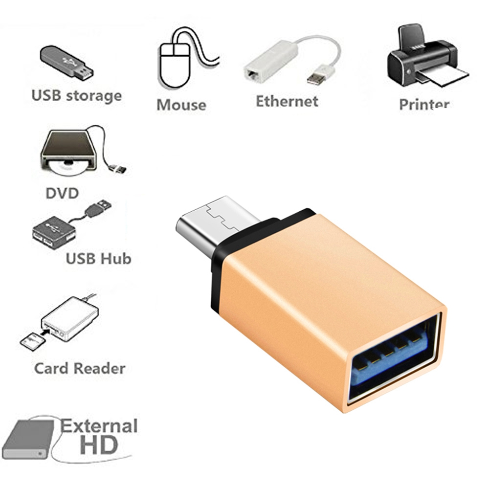 High Speed Type C Male to USB3.0 Female OTG Date Sync Adapter for Macbook