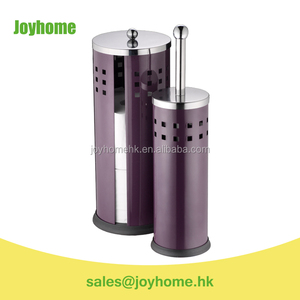 hot sale metal purple toilet brush and paper holder