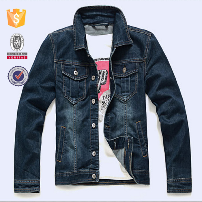 OEM service wholesale 2017 new casual mens denim jacket oversized