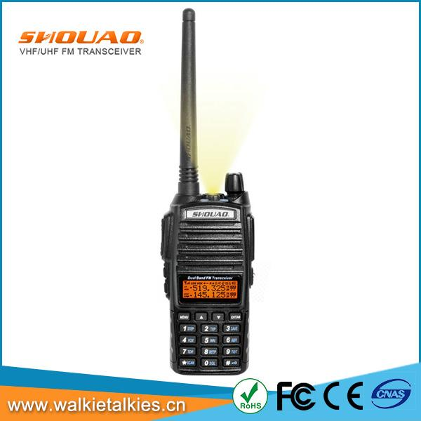 Shouao TS-Q9UV dual band, dual display, dual frekuensi radio dua arah 5 w paling kuat walkie talkie radio portabel