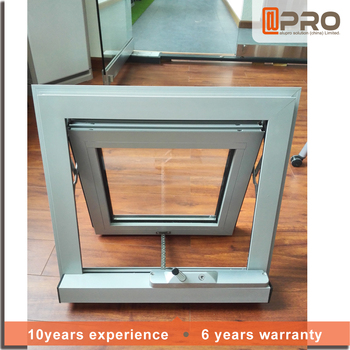 2016 lastest window design aluminum glass awning window for