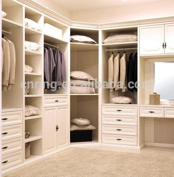 Latest Design Modern Asian Style Bedroom Closet Wood Wardrobe Cabinets With Drawers