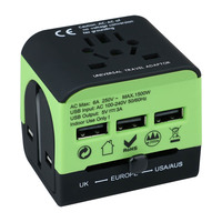 Electrical Socket European/American/Australia/UK Plug Adaptors All in One Universal Travel Adapter with USB Charger
