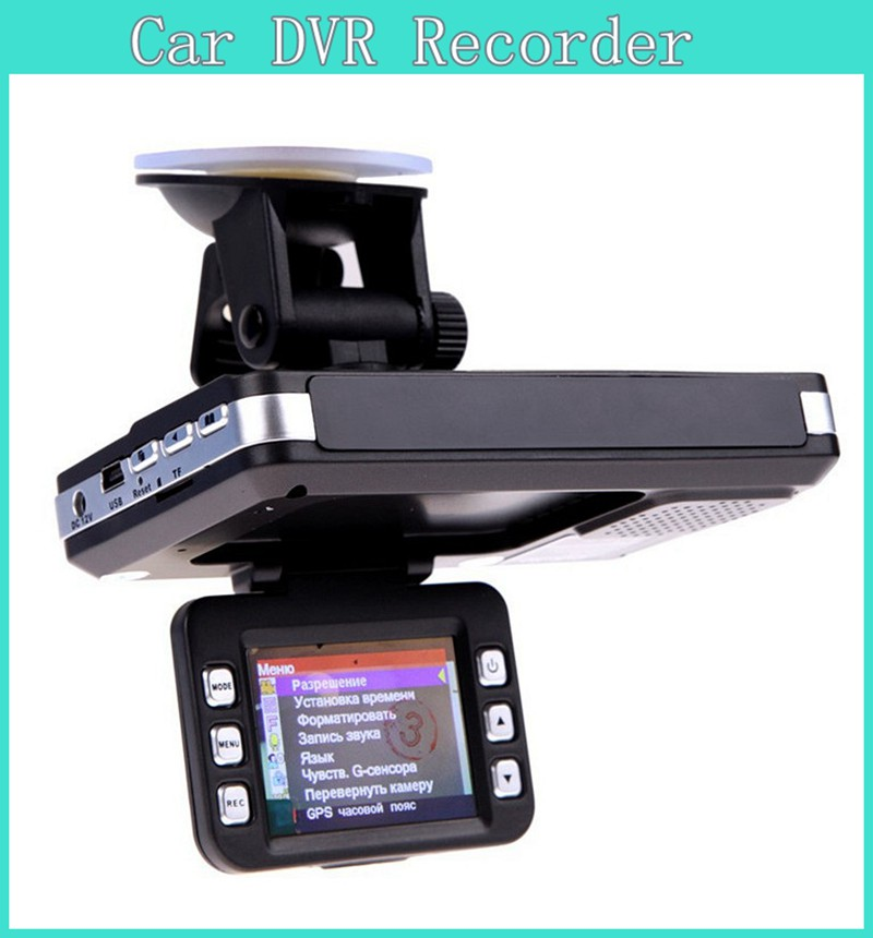 2015 New Car Recorder Radar Laser Speed Detector 140 Degree Angle Russian English Language Car Camera DVR Video Recorder