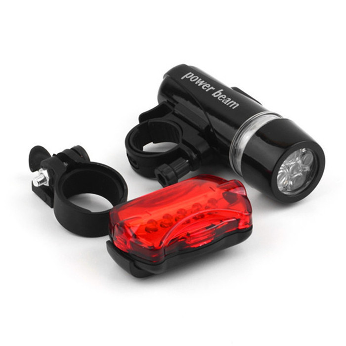 Bicycle Light set Waterproof 5 LED Lamp Bike Bicycle Front Head Light+Rear Safety Flashlight