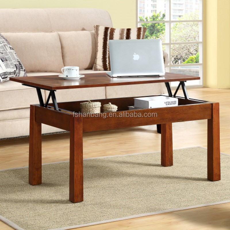 French Market Coffee Table: Adjustable Height Lift Top Coffee Tables