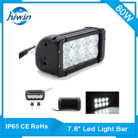 Hiwin IP68 CE Rohs 12V Dual Rows 80W Aluminum Profile Offroad Led Auto Light