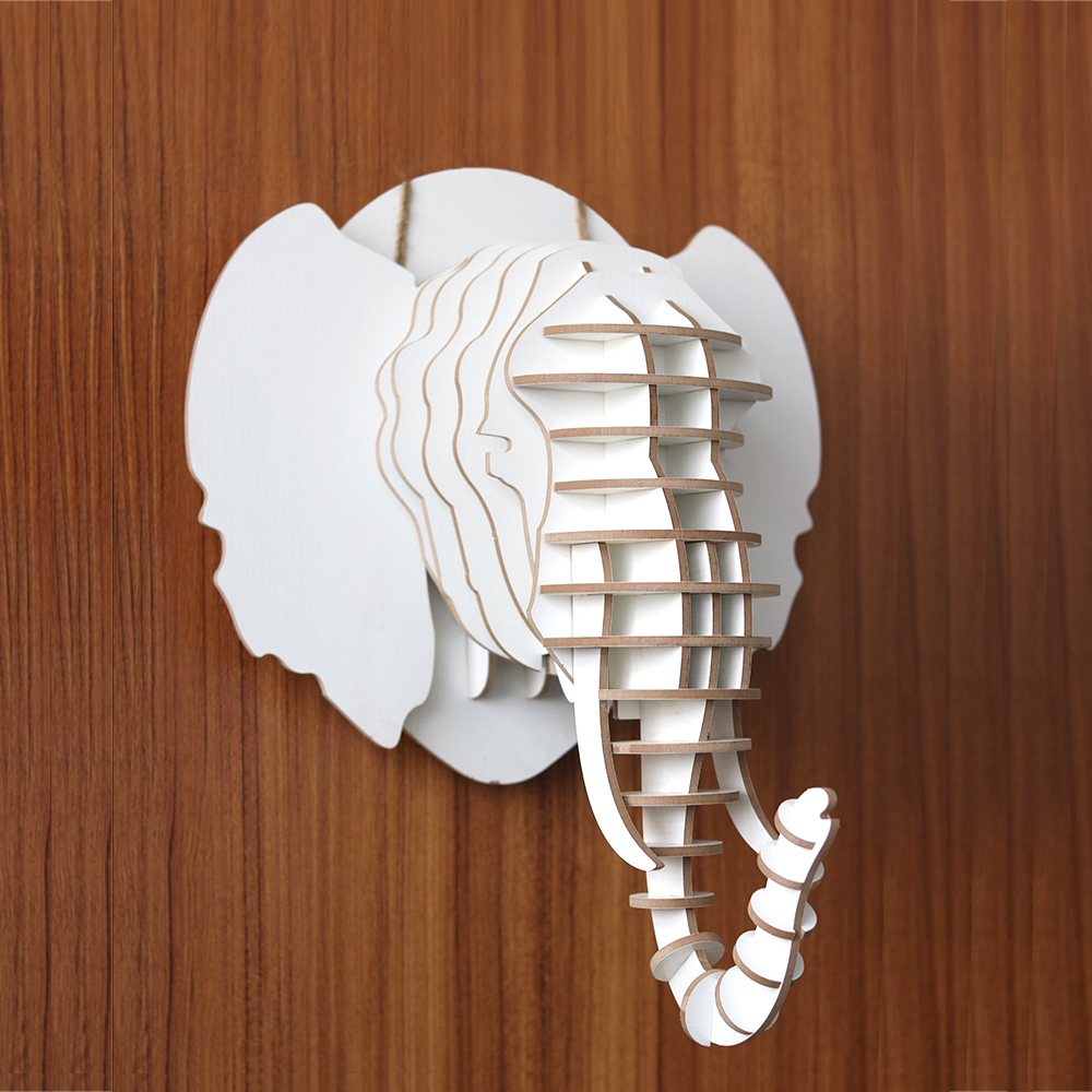 Diy Wall Mounted White Elephant Head Wall Decoration Buy Wall