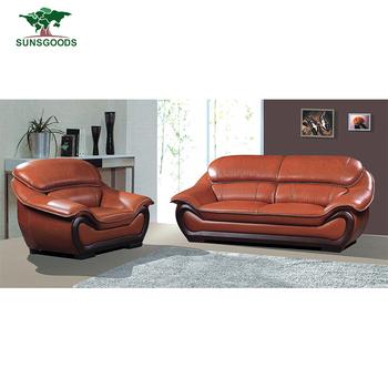 Latest Design Orange Leather Sofa Portugal Leather Sofa