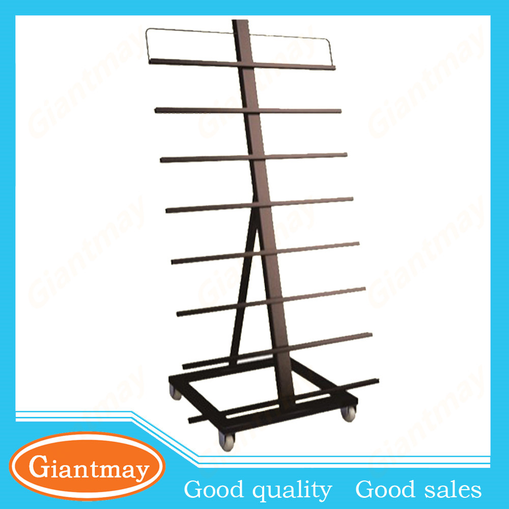 heavy duty ceramic tile metal display stand for exhibition
