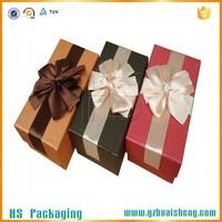 Fancy Printed Decorative Cardboard Underwear Storage Box With Ribbon