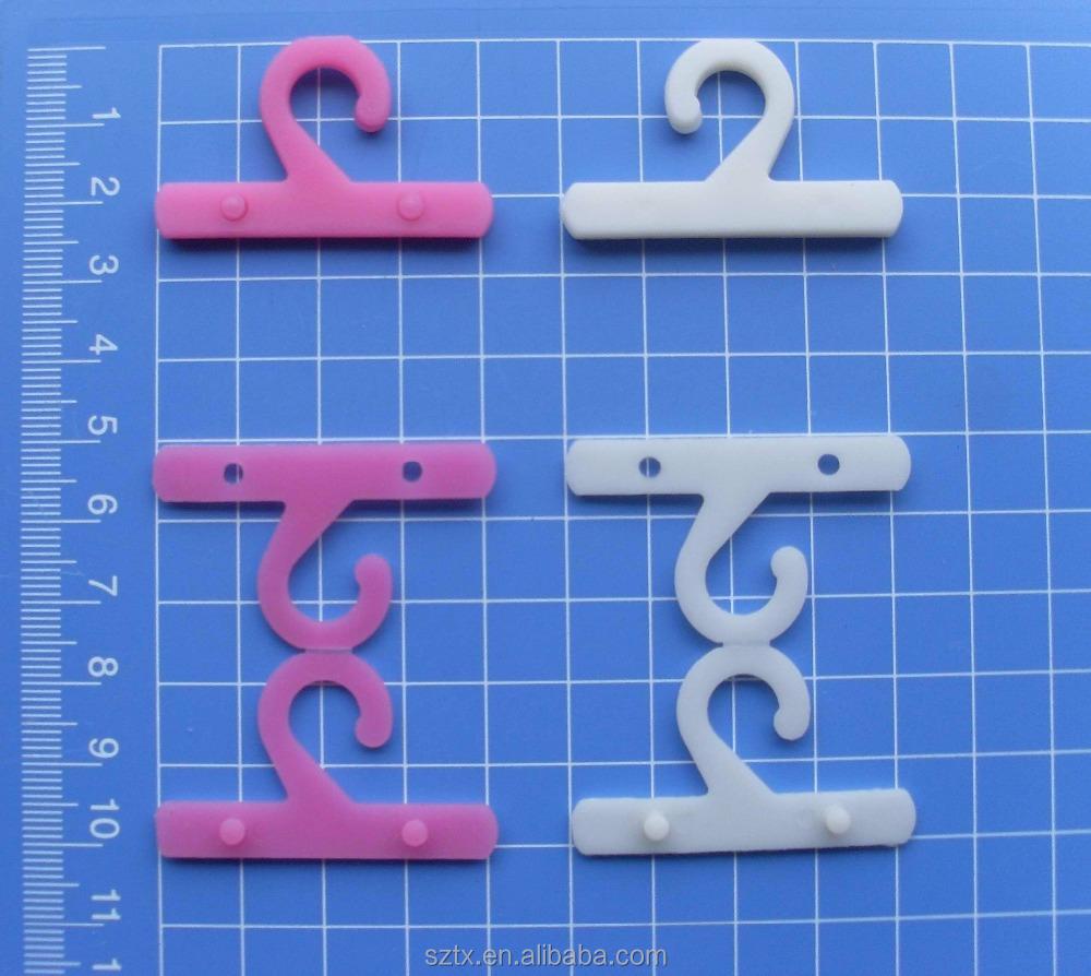 Directo de f brica de pl stico peque o accesorio hanger for Ganchos de plastico