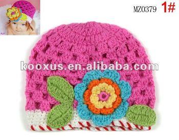Grandes flores de ganchillo gorros sombreros del bebé Flor de las muchachas  del niño infantil del 6a8879201ff