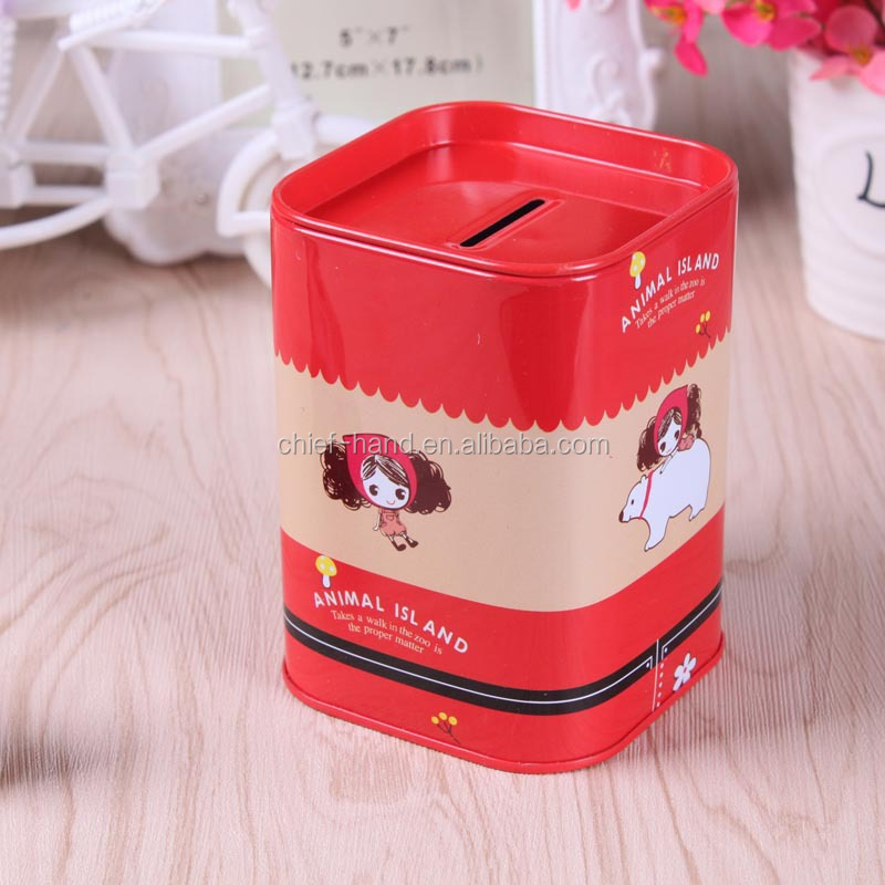 2018 Promotional Hot Sale Personalized Tin Can coin box Money Saving Box