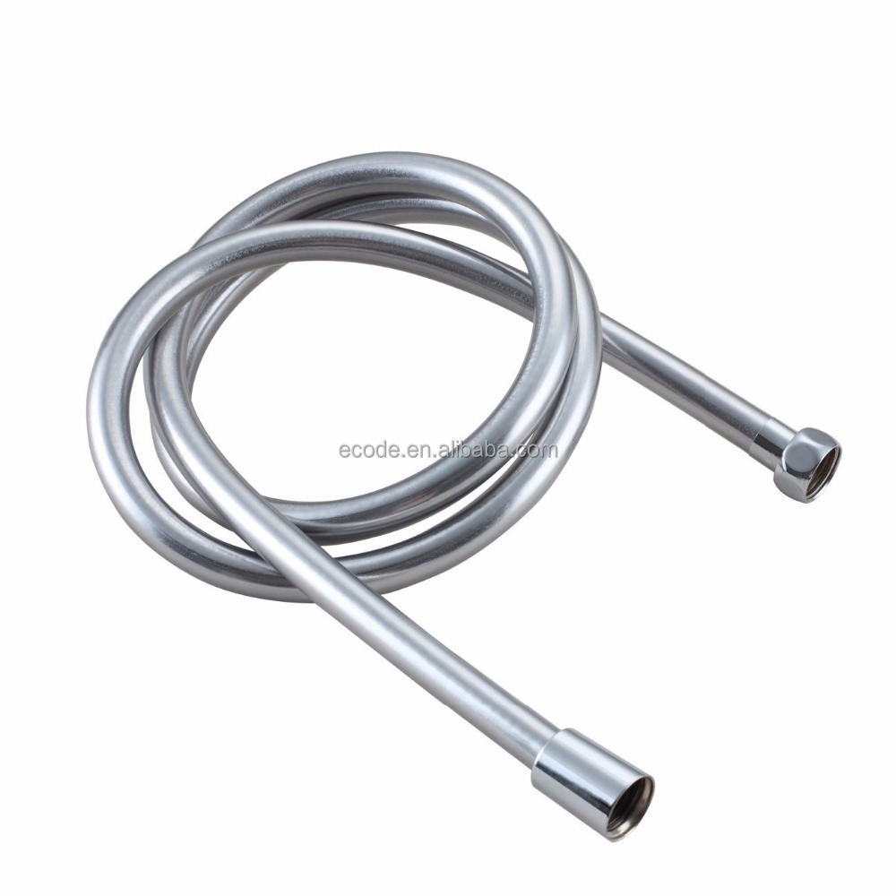 PVC Plumbing Hose Flexible Shower Hose Silver Sanding Bathroom Hose