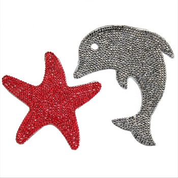 Swimwear Accessories Beaded Lace Fabric Iron on Cartoon Applique Patch
