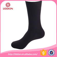 bulk wholesale custom knit socks, men 100% cotton black dress socks
