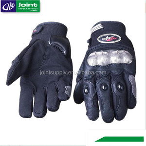 Hot Sale Synthetic Lycra Leather Motorcycle Gloves
