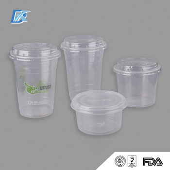 16oz 24oz 36oz Food Grade Pp Pet Plastic Juice Cup With Lid Buy