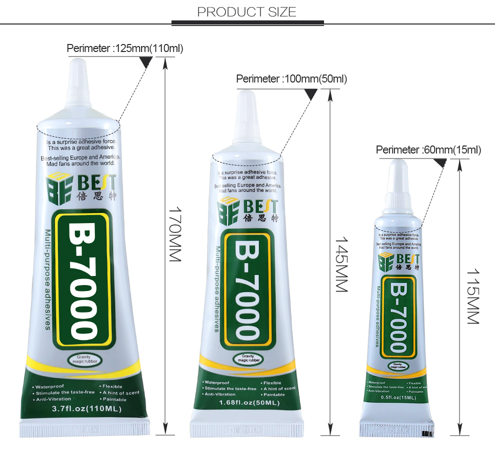 B7000 Adhesive Glue For Jewelry Craft DIY Cell Phone Glass Touch Screen Repair