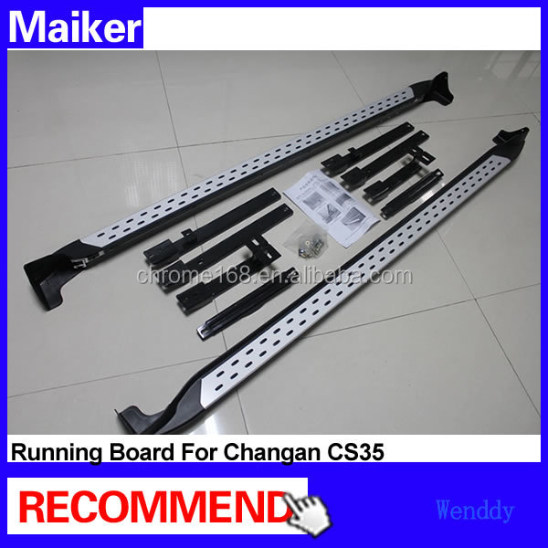Aluminium alloy b--m--w type side step bar running boards for Changan CS35 side step running board 4x4 tuning parts
