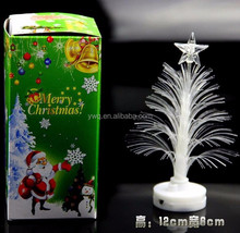 High quality mini colorful crystal USB LED Flashing plastic christmas tree