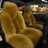 car seat cover winter wool front row single seat cushion plush seat cushion