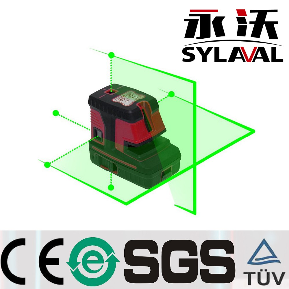 CT500G Factory Supply 2 lines 5 dots Green Beam Level Laser