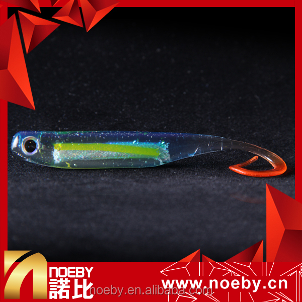 2017 NOEBY holographic soft fishing lure soft bass plastic lure