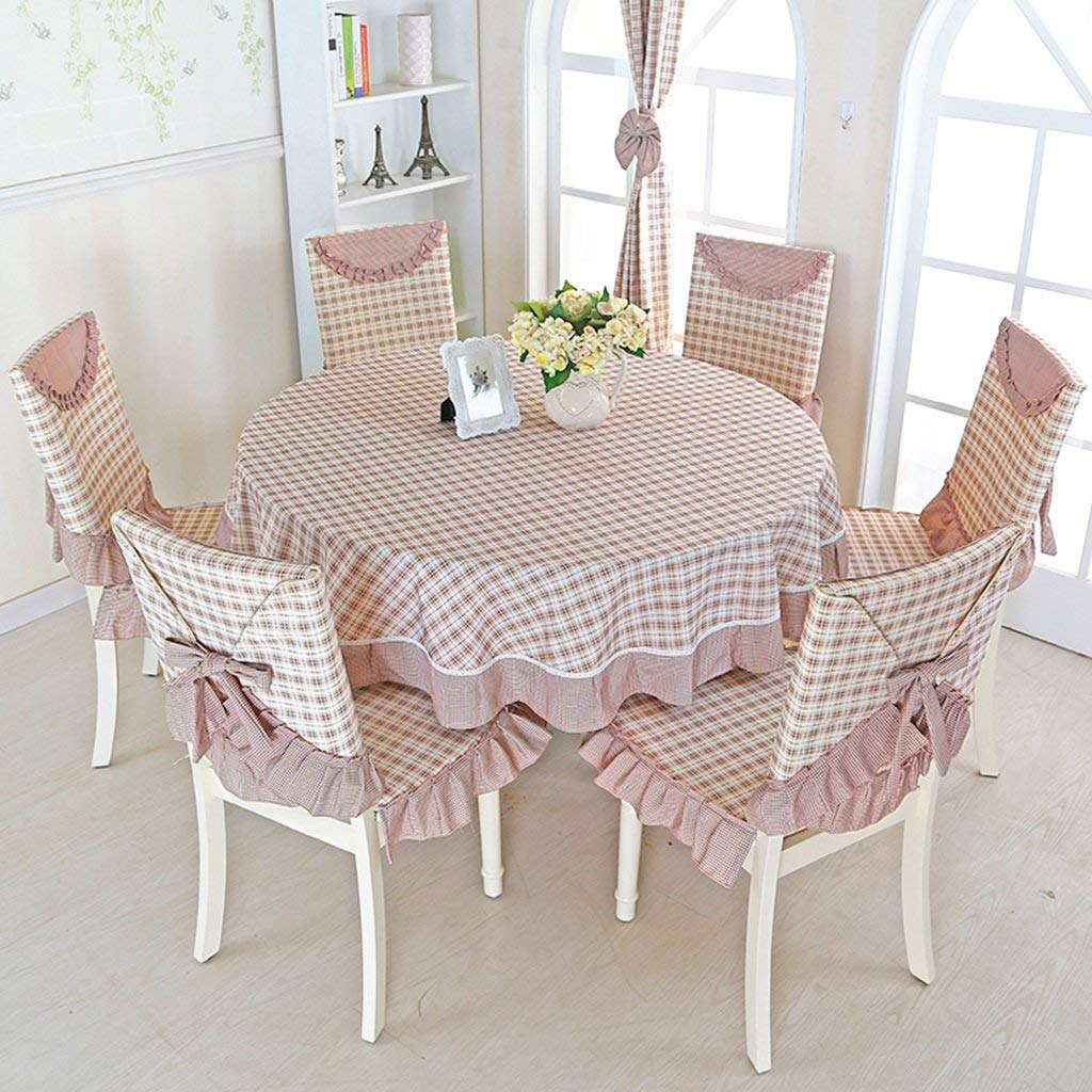 Get Quotations Home Tablecloth Round Rural Cloth Large Lattice Simple Dining Table