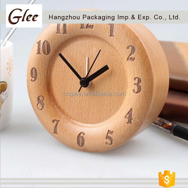 Small lovely pretty Hot New Products hotel desktop deco wooden digital led clock