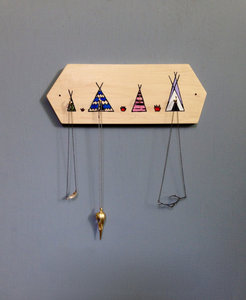 Teepee Jewelry Holder Unique Wood Hook