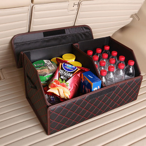 Folding Car Seat Back Storage Bag Car Back Set Organizer Car Trunk Organizer