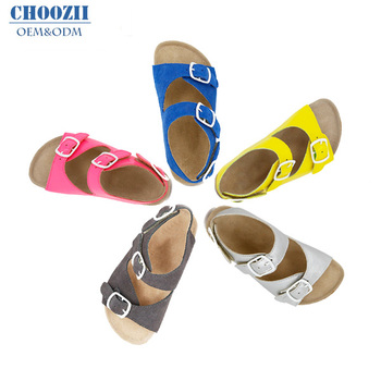 85a92a017fad Wholesale Genuine Leather Kids Boys Cork Sandals from China