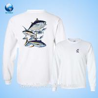 2015 Long sleeve custom oversized fishing shirts with sublimation&custom fishing jersey&High quality t shirt printing logo