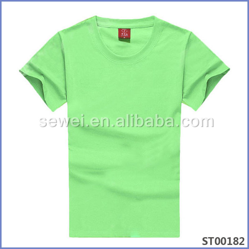 Wholesale Custom Natural Color Organic Cotton O Neck T