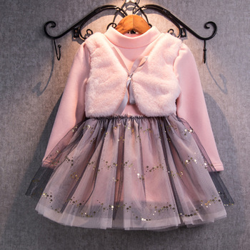 71058aae9 Baby Girl Winter Dress 2017 Fashion Spring Autumn Princess Girl Long ...