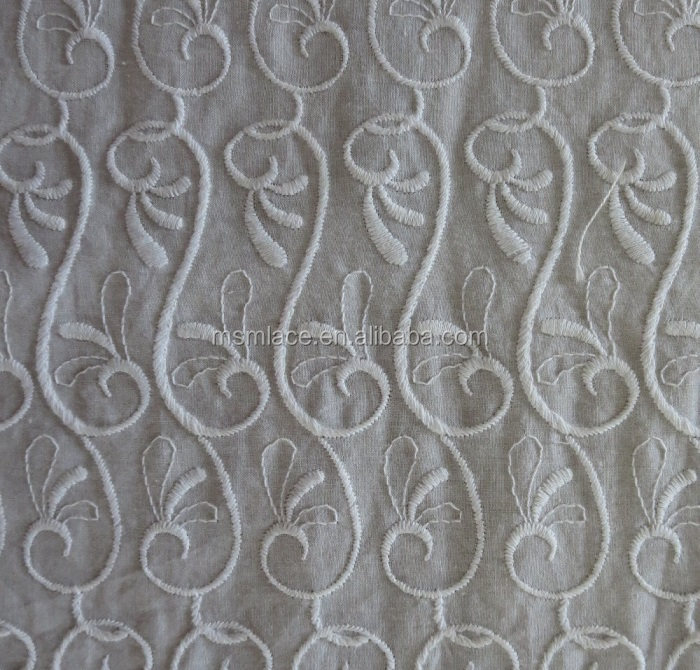 Hot Sale Eyelet Border Embroidery Cotton Fabric Cotton Lace Fabric ...