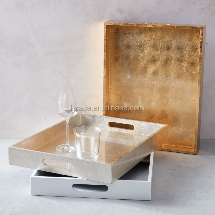 Lacquer Wooden Trays - Small Rectangle