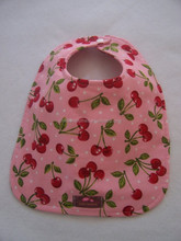 Posh design baby pink cherry custom printed bibs