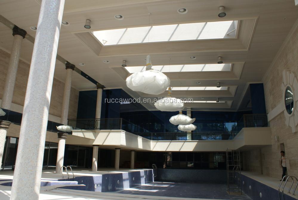 Foshan rucca eco hout wpc teak hout pvc plafond voor interieur