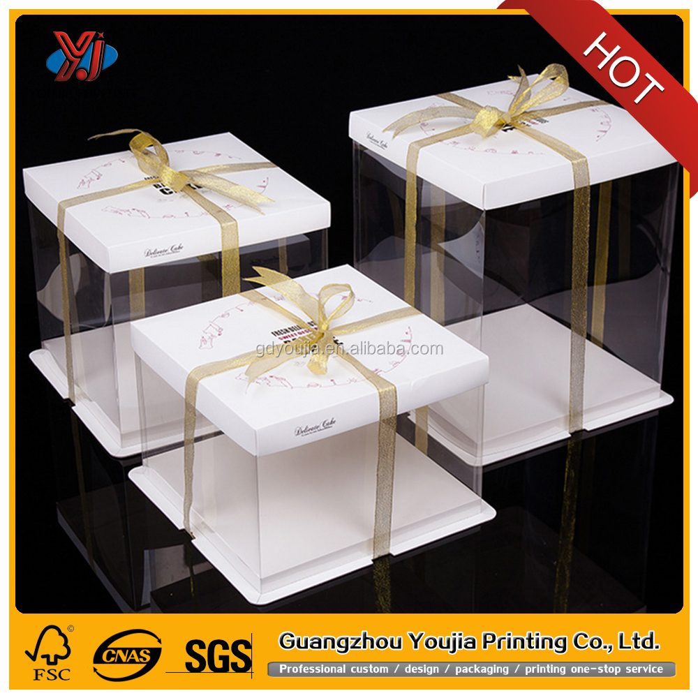 eco- friendly PET PP transparent cake storage packaging box