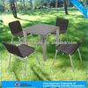 Ps-wood beach table and chair artificial rattan outdoor dining set